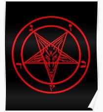 Inverted Pentagram mit Baphomet Ziege Poster