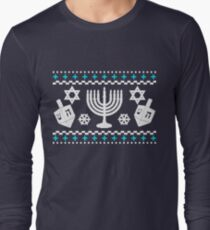 Funny Hanukkah Ugly Holiday Sweater Long Sleeve T-Shirt