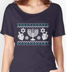 Funny Hanukkah Ugly Holiday Sweater Women's Relaxed Fit T-Shirt