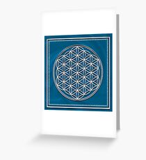 FLOWER OF LIFE - SACRED GEOMETRY - HARMONY & BALANCE Greeting Card
