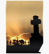 Graveyard Sunset Poster