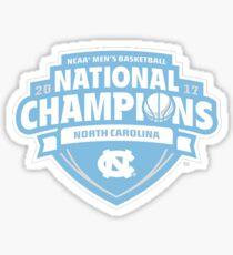 North Carolina Tarheels Basketball 2017 National Champions Sticker