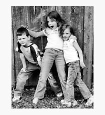 Siblings Photographic Print