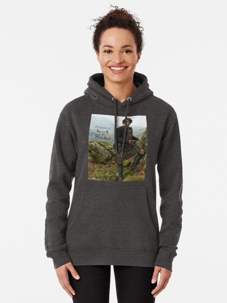 Alternate view of I'll have a Scot on the Rocks!  Pullover Hoodie