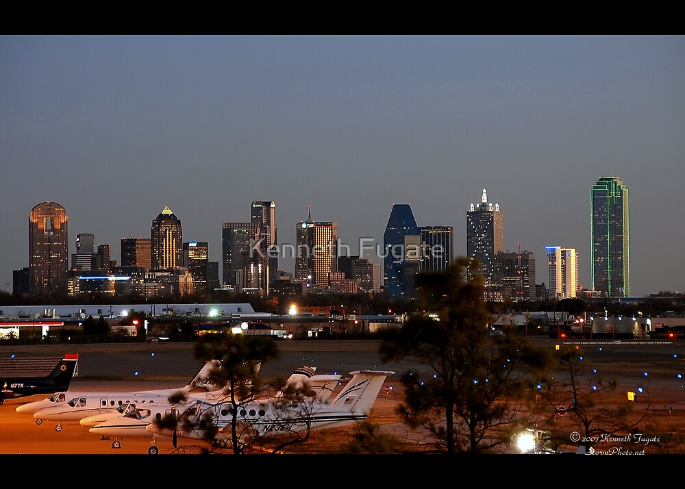 Dallas Texas at Sunset by Kenneth Fugate