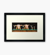 three sheeps to the wind... Framed Print