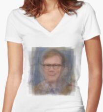 Forrest MacNeil Portrait Women's Fitted V-Neck T-Shirt