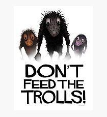Don't Feed The Trolls! Photographic Print