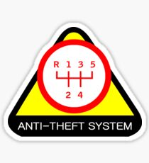 Anti-Theft System (Pattern 2) (light) Sticker