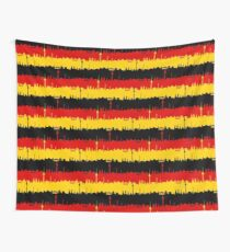Dresden Germany Skyline Flag Repeating German Flag Fed, Gold and Black Colors  Wall Tapestry