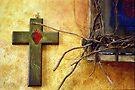 Cross By Window Sill by Larry Costales