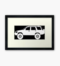 Lifted 4x4 offroader - for Honda CRV 1st gen (RD1–RD3) enthusiasts Framed Print