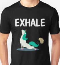Exhale Yoga Unicorn Unisex T-Shirt