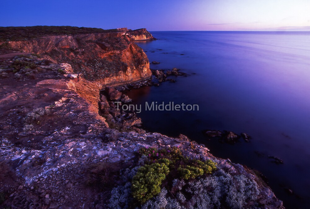 crumbling cliffs by Tony Middleton