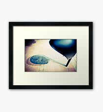 black phone Framed Print