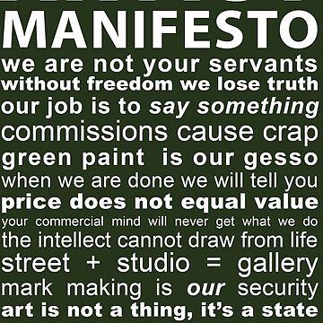 Artist Manifesto by CaravanArt