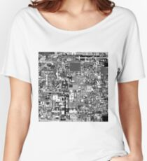 Reddit r/Place 10K resolution Official r/TheFinalClean Cleaned Version – Monochrome Women's Relaxed Fit T-Shirt