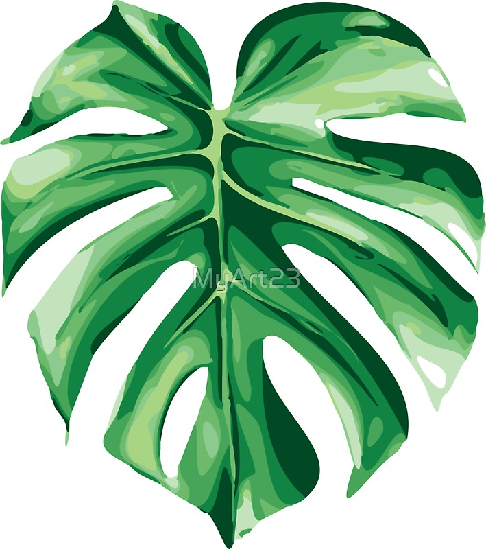 Quot Monstera Quot Stickers By Myart23 Redbubble