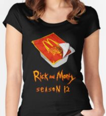 Rick and Morty - Szechuan Sauce Women's Fitted Scoop T-Shirt