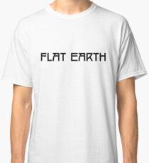 Flat Earth Tee - White Text Classic T-Shirt