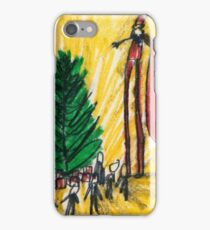 Santa on Stilts iPhone Case/Skin