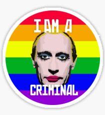 Putin Gay Clown Sticker