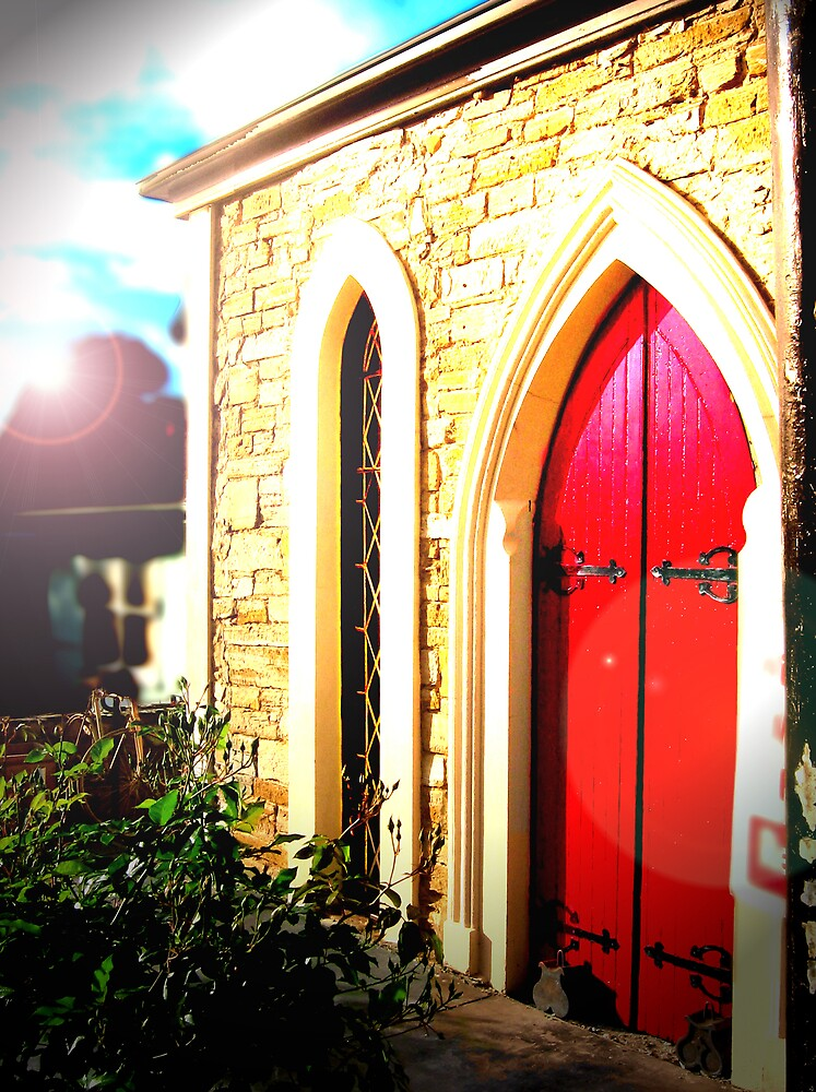 Willy Hill Cafe - Red Door by Michelle Avery