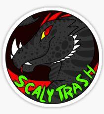 Scaly Trash Sticker