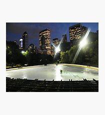 Wollman Skating Rink at Night, Central Park, New York City Photographic Print