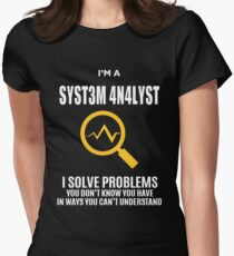 SYSTEM ANALYST TEENCODE COOL SHIRT Womens Fitted T-Shirt