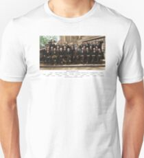 Colorized - Solvay Conference 1927. Einstein, Curie, Bohr and more. Unisex T-Shirt