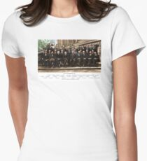 Colorized - Solvay Conference 1927. Einstein, Curie, Bohr and more. Women's Fitted T-Shirt
