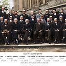 Colorized - Solvay Conference 1927. Einstein, Curie, Bohr and more. by Sanna Dullaway