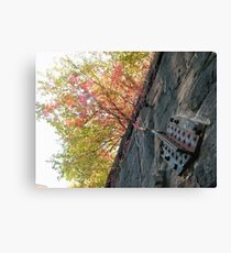 Harsimus Branch Embankment, Former Pennsylvania Railroad Embankment , Jersey City, New Jersey  Canvas Print