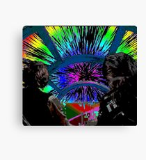 Millennium Falcon Hyperspace Recontextualized Canvas Print