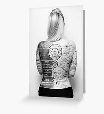 Tattoo Info Greeting Card