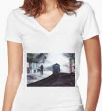 Waiting Women's Fitted V-Neck T-Shirt