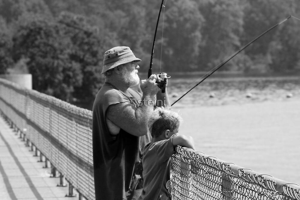 Fishermen on Dam by steini
