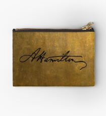 Hamilton Plain Signature  Zipper Pouch