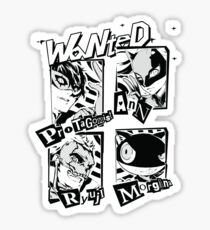 Persona 5 Wanted Posters Sticker