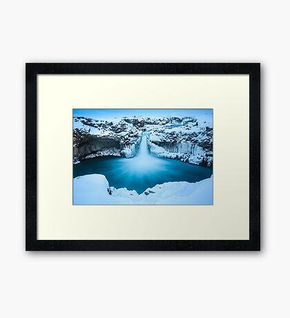 Winter Waterfall Framed Print