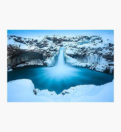Winter Waterfall Photographic Print
