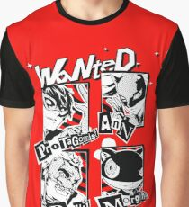 Persona 5 Wanted Posters Graphic T-Shirt