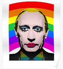 Vladimir Putin Gay Clown Banned in Russia Poster