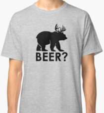 Beer? Beer, drunk, alcohol, bear, funny. Classic T-Shirt