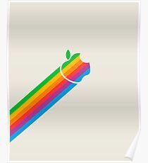 Apple Retro Logo Beam Poster