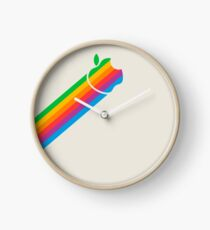 Apple Retro Logo Beam Clock