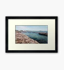 Currarong Rock Pools. Framed Print
