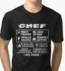 CHEF funny and humor Tri-blend T-Shirt