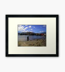 One Sunny Day At Subic Bay Local Fishing Port Framed Print
